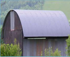 Curved Sheets Used As Profiled Galvanized Steel On Many